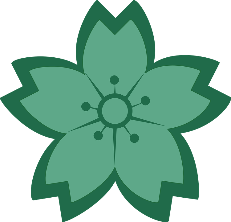 Graphic floral images picture royalty free Free vector graphic: Flower, Floral, Green, Teal - Free Image on ... picture royalty free