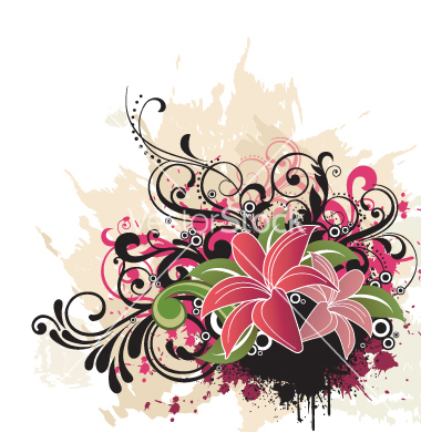 Graphic floral images image library library Floral graphic art - ClipartFest image library library