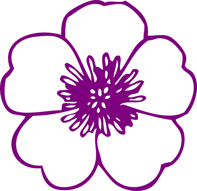 Graphic flower pictures clip freeuse stock Free Image on Pixabay - Flower, Purple, Blossom, Bloom | Pinterest ... clip freeuse stock