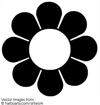 Graphic flower vector graphic transparent library Download : 60s inspired flower - vector graphic graphic transparent library