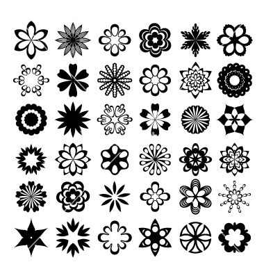 Graphic flower vector clip art library stock Graphic flower vector - ClipartFest clip art library stock
