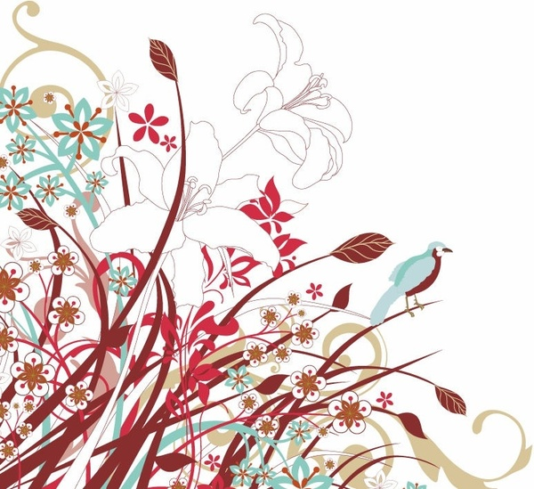 Graphic flower vector banner library Tree with Flowers Vector Graphic Free vector in Encapsulated ... banner library