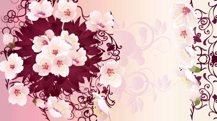 Graphic flowers free banner library library Free Rain Flowers Vector Graphic Free Vector / 4Vector banner library library