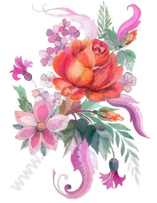 Graphic flowers free banner library download V16 Free Rose Graphic Flower Bouquet Clip Art - Designers Nexus banner library download