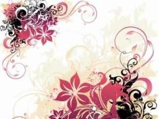 Graphic flowers free clipart black and white library Free Vector Graphic Flowers and Swirls   free vectors   UI Download clipart black and white library