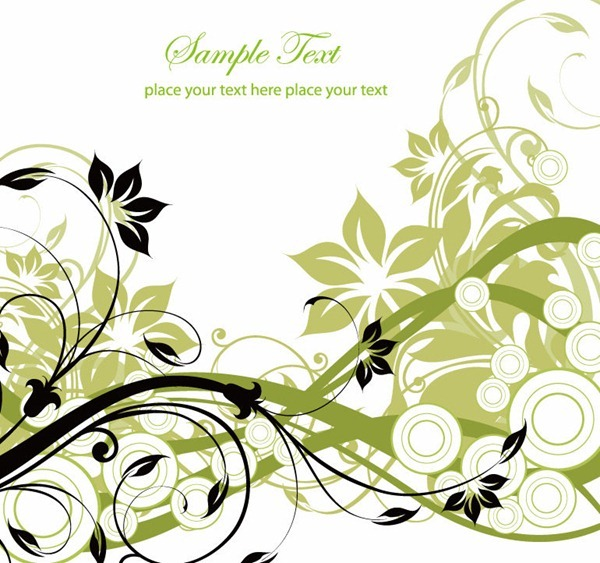 Graphic flowers free free Free Vector Graphic – Flowers and Swirls   Free Vector Graphics ... free