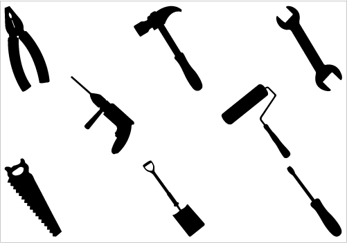 Graphic of tools clipart banner transparent stock Graphic of tools clipart - ClipartFest banner transparent stock