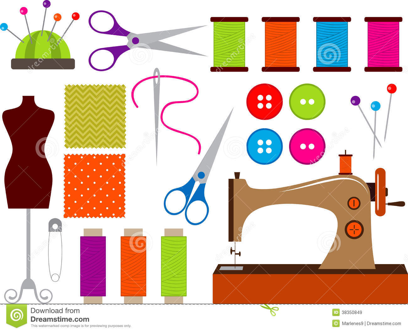 Graphic of tools clipart picture free stock Sewing Tools Clip Art – Clipart Free Download picture free stock