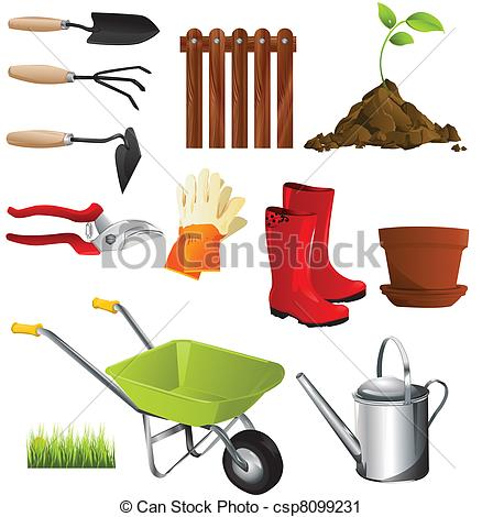 Graphic of tools clipart graphic Vector Clip Art of garden tools - garden tools csp8099231 - Search ... graphic