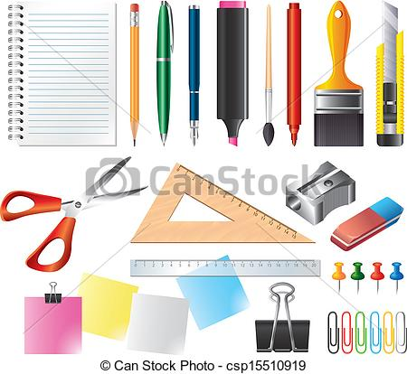 Graphic of tools clipart banner freeuse download Vector Clip Art of drawing and office tools vector set - drawing ... banner freeuse download
