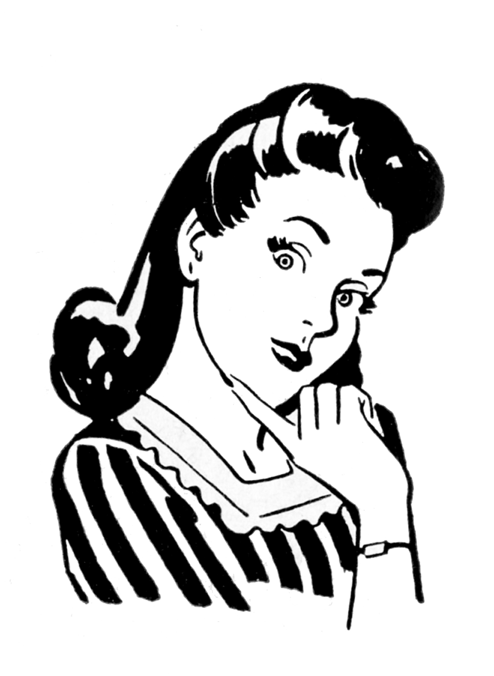 Graphics clipart graphic black and white Retro Clip Art - Quirky Women - The Graphics Fairy graphic black and white