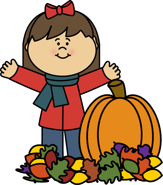 clipart for a boy with a pumpkin #1