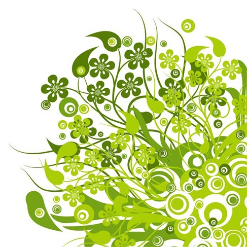Graphics floral image transparent library Green Floral Vector Graphic | Free Vector Graphics | All Free Web ... image transparent library