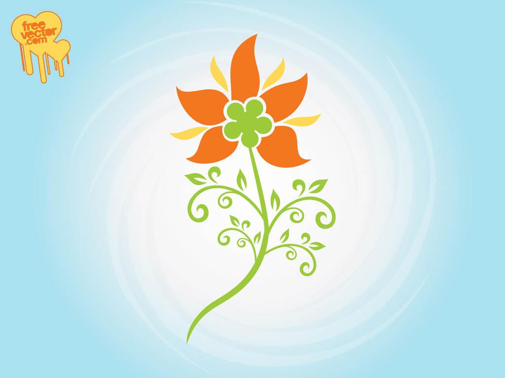 Graphics flower vector transparent library Stylized Flower Graphics Vector Art & Graphics | freevector.com vector transparent library