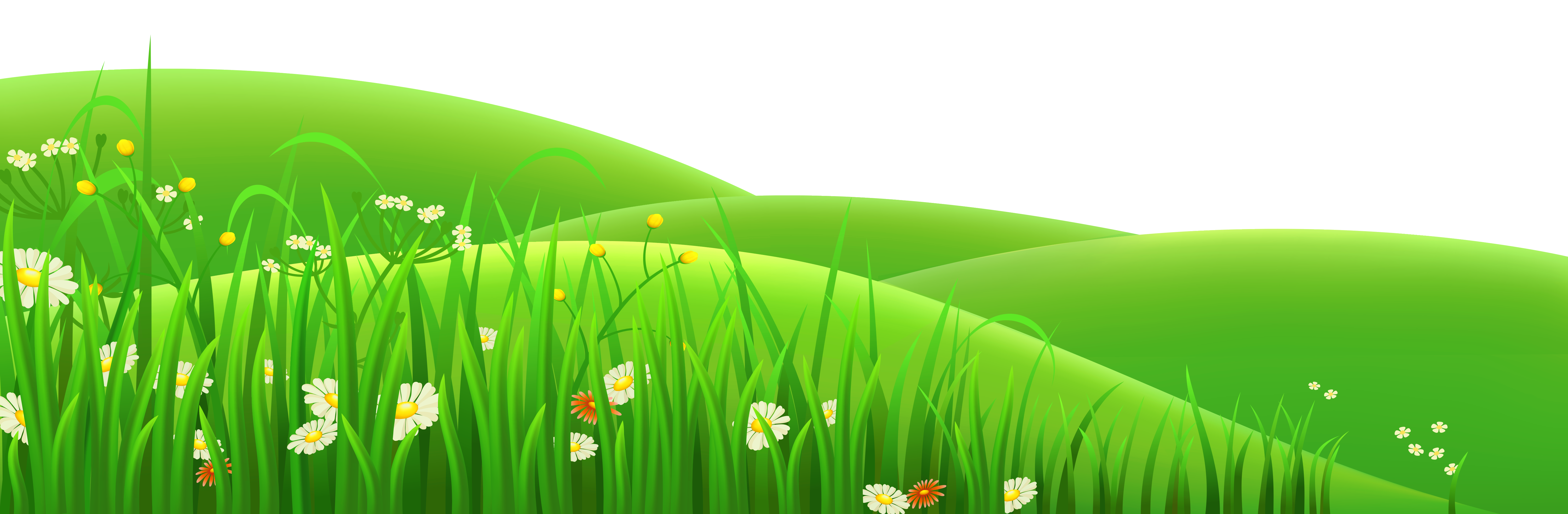 Flower meadow clipart banner library Flowers in grass clipart - ClipartFest banner library