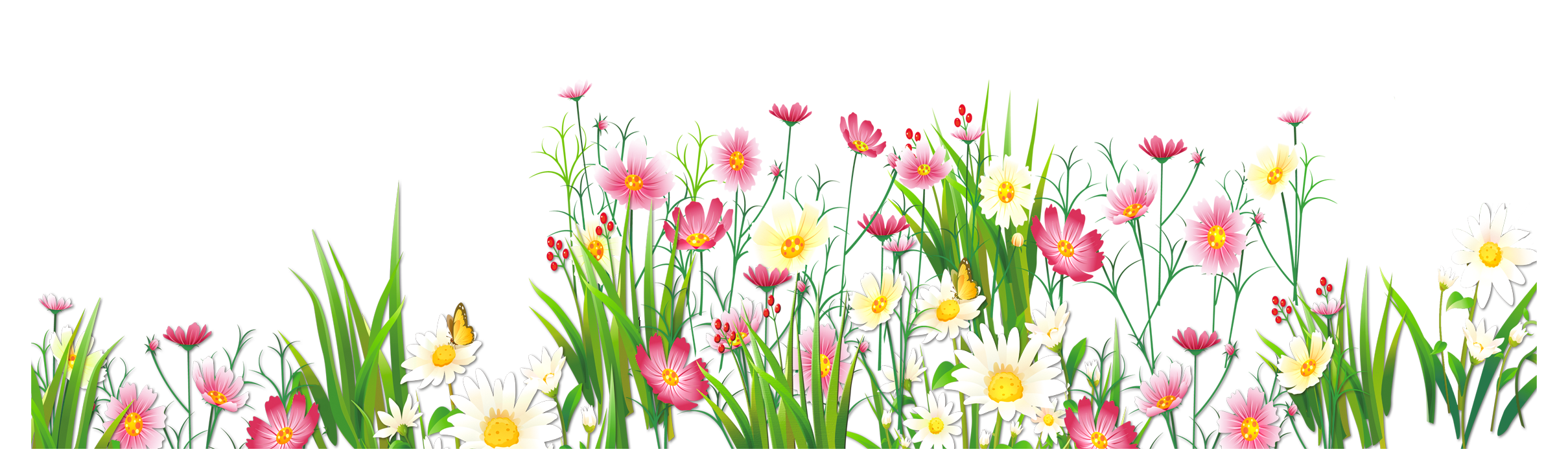 Short flower clipart clip art freeuse library Flowers and Grass PNG Picture Clipart | PNG Flowers | Pinterest ... clip art freeuse library