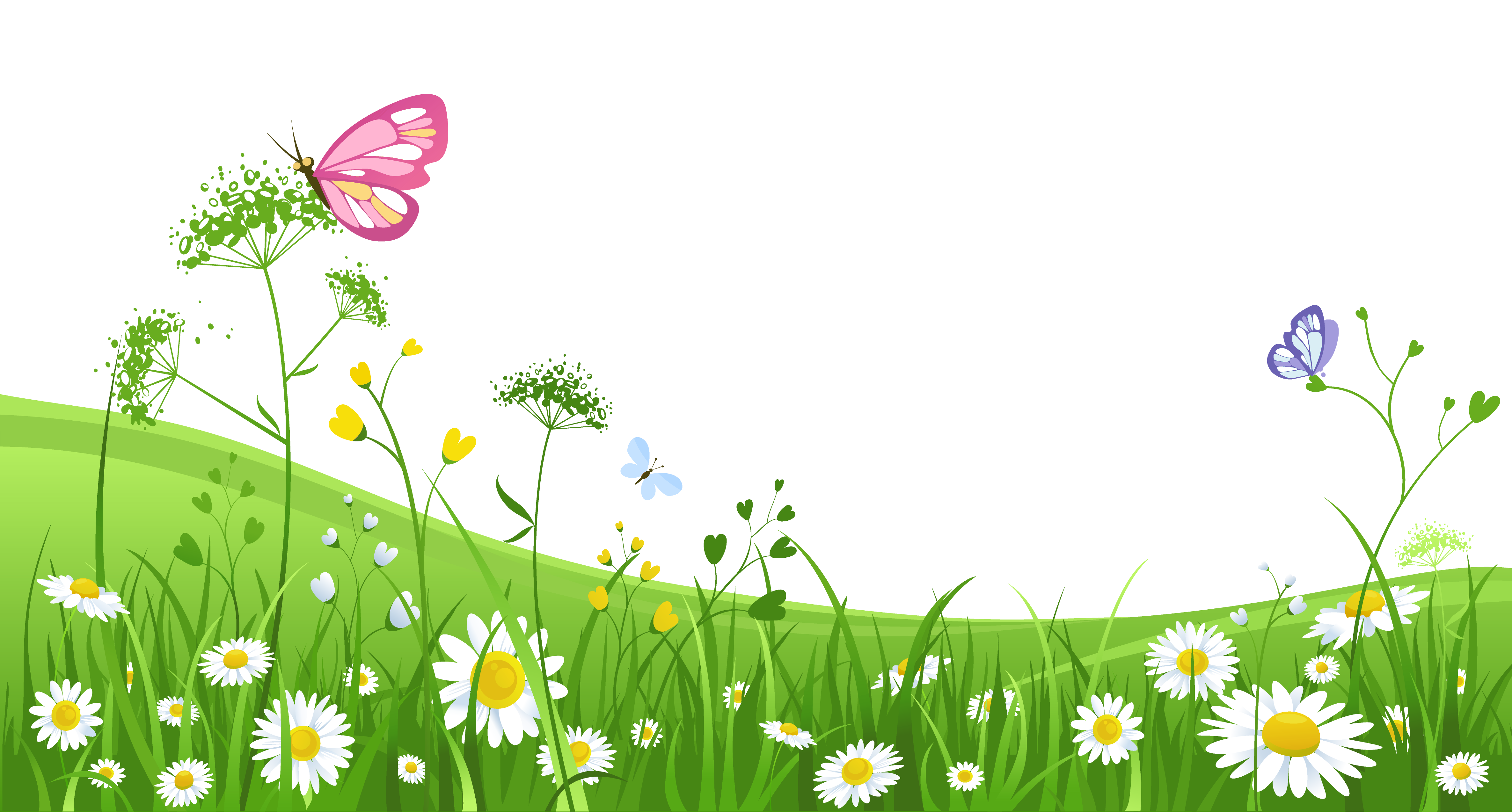 Grass and flowers clipart vector black and white Grass and flowers clipart background - ClipartFest vector black and white