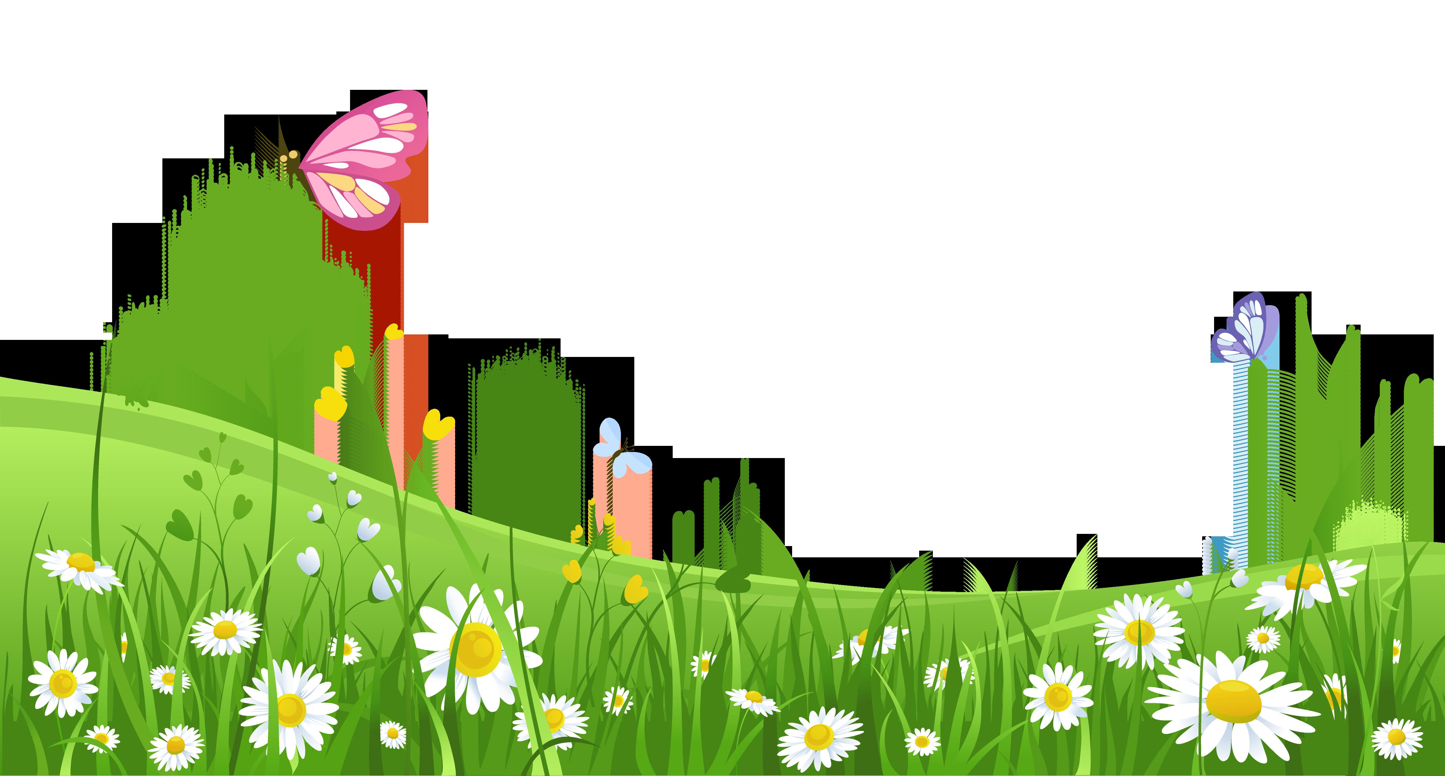 Flower garden background clipart download Grass and flowers clipart background - ClipartFest download