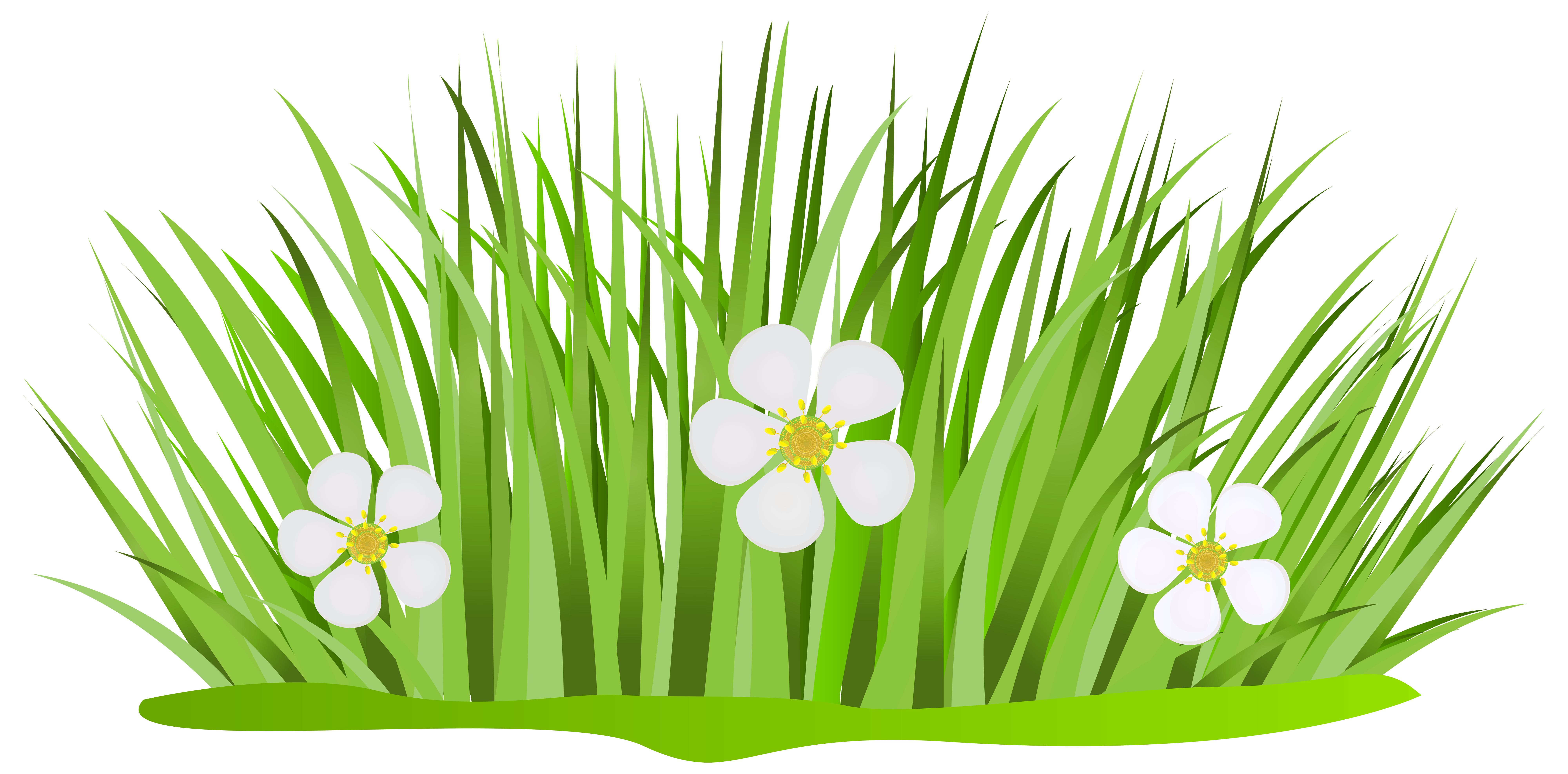 Grass patch clipart vector black and white Grass Patch with Flowers PNG Clip Art Image | Gallery Yopriceville ... vector black and white