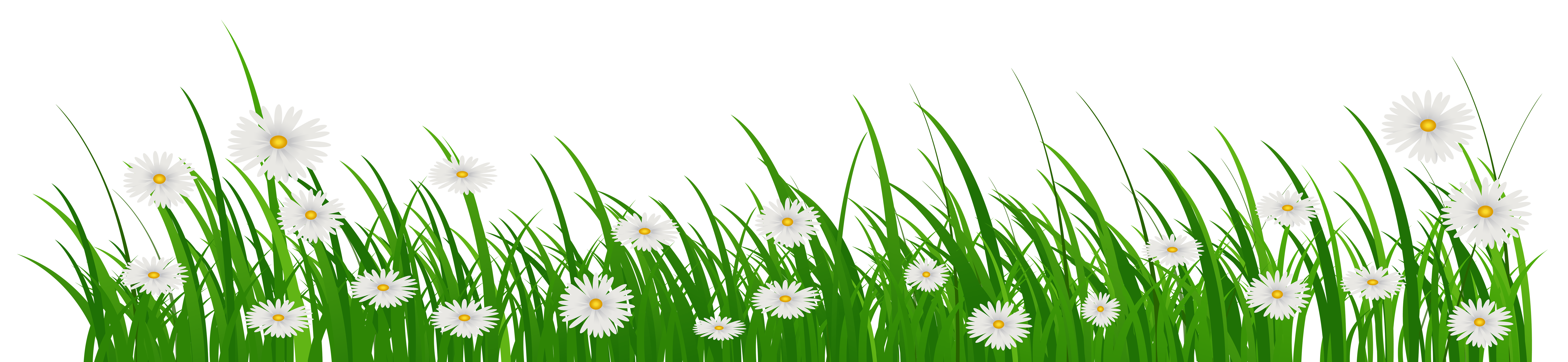 Grass with flower clipart banner freeuse Grass with Flowers PNG Clip Art Image | Gallery Yopriceville - High ... banner freeuse