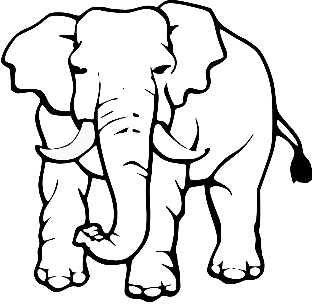 Grassland elephant clipart black and white picture royalty free library Free White Elephant Clipart, Download Free Clip Art, Free Clip Art ... picture royalty free library