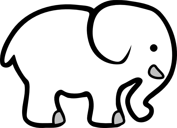 Grassland elephant clipart black and white clip black and white library White Elephant Clipart - Cliparts.co clip black and white library