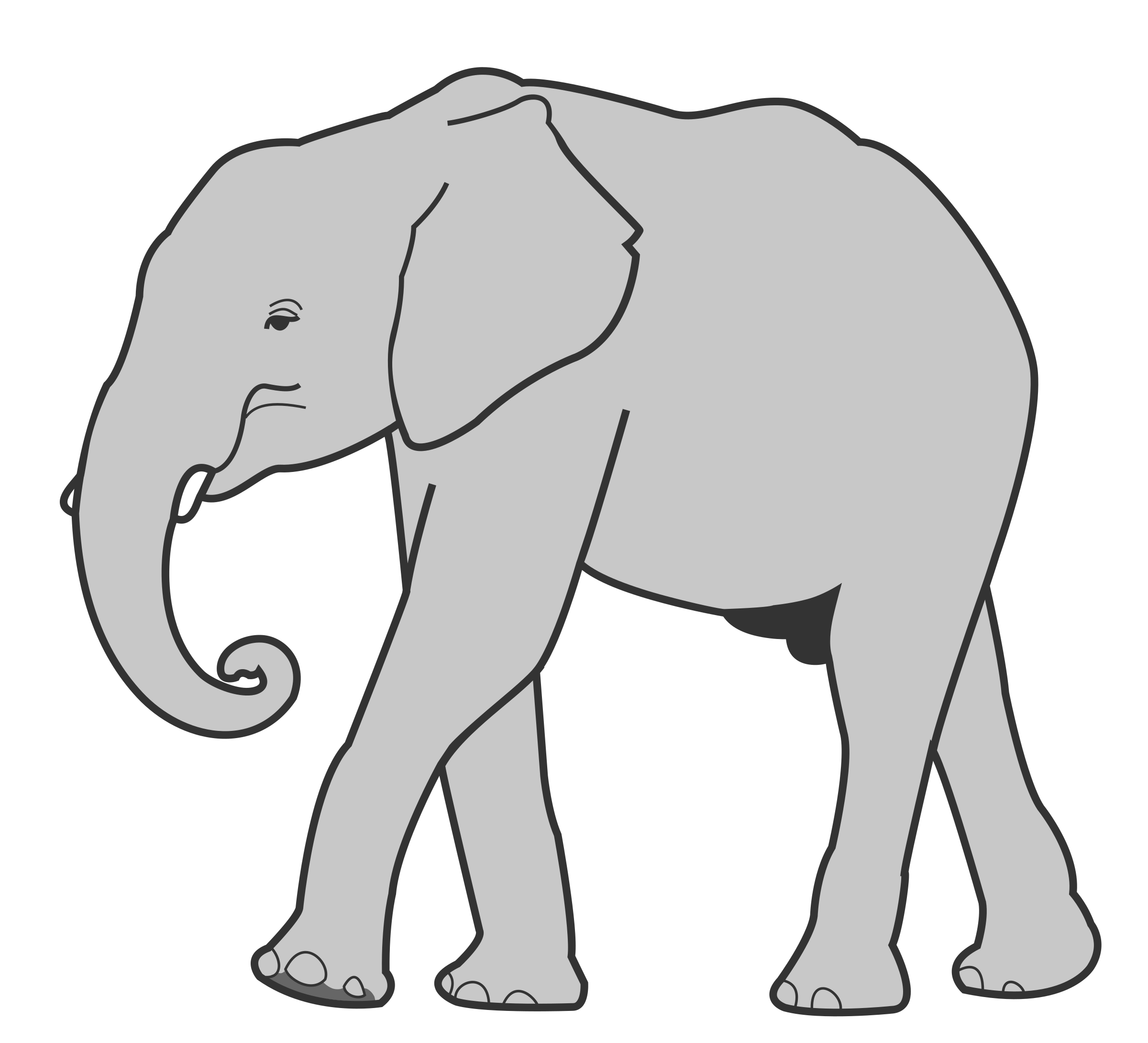 Grassland elephant clipart black and white transparent stock Elephant,Elephants and Mammoths,Indian elephant,Mammal,Vertebrate ... transparent stock