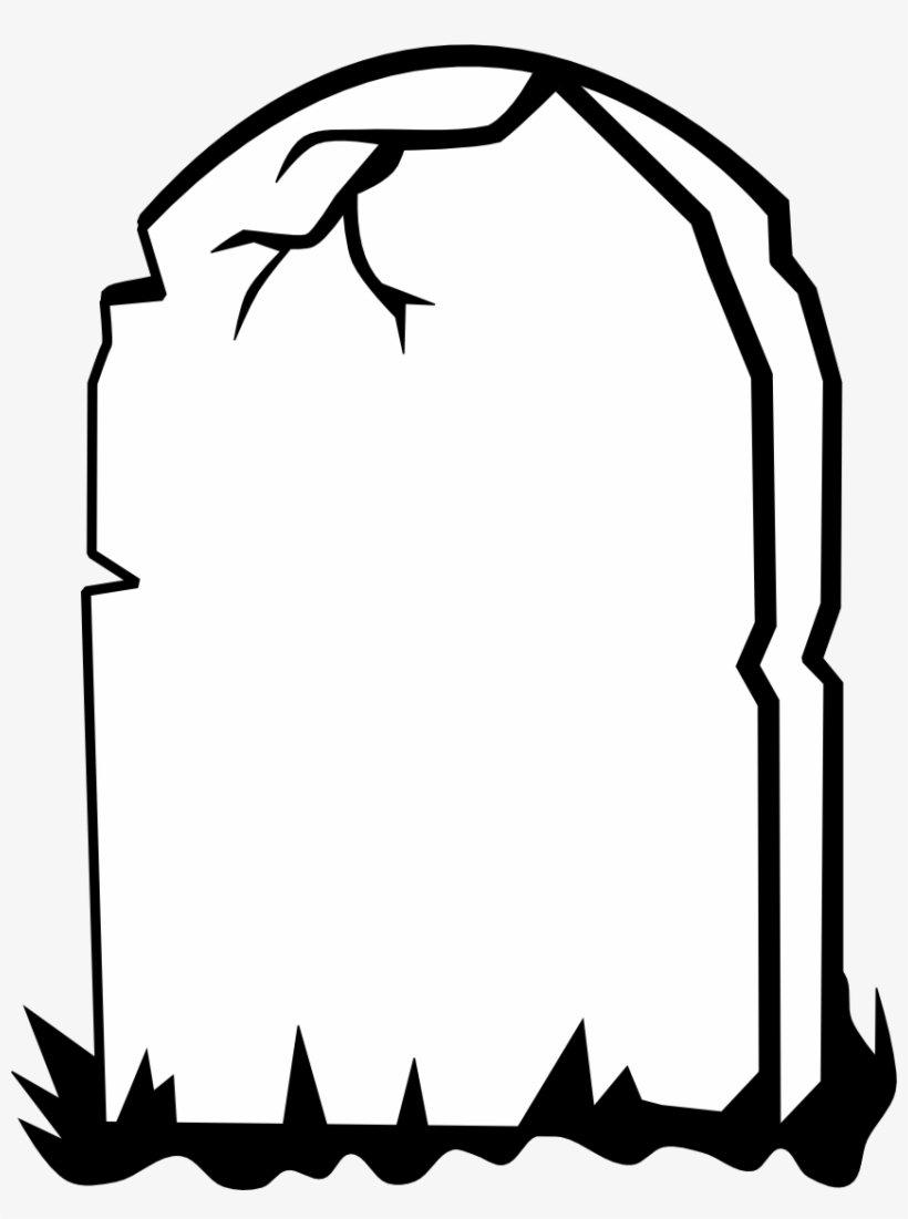 Gravestone black and white clipart banner library download Tombstone Transparent Black And White - Gravestone Clipart PNG Image ... banner library download