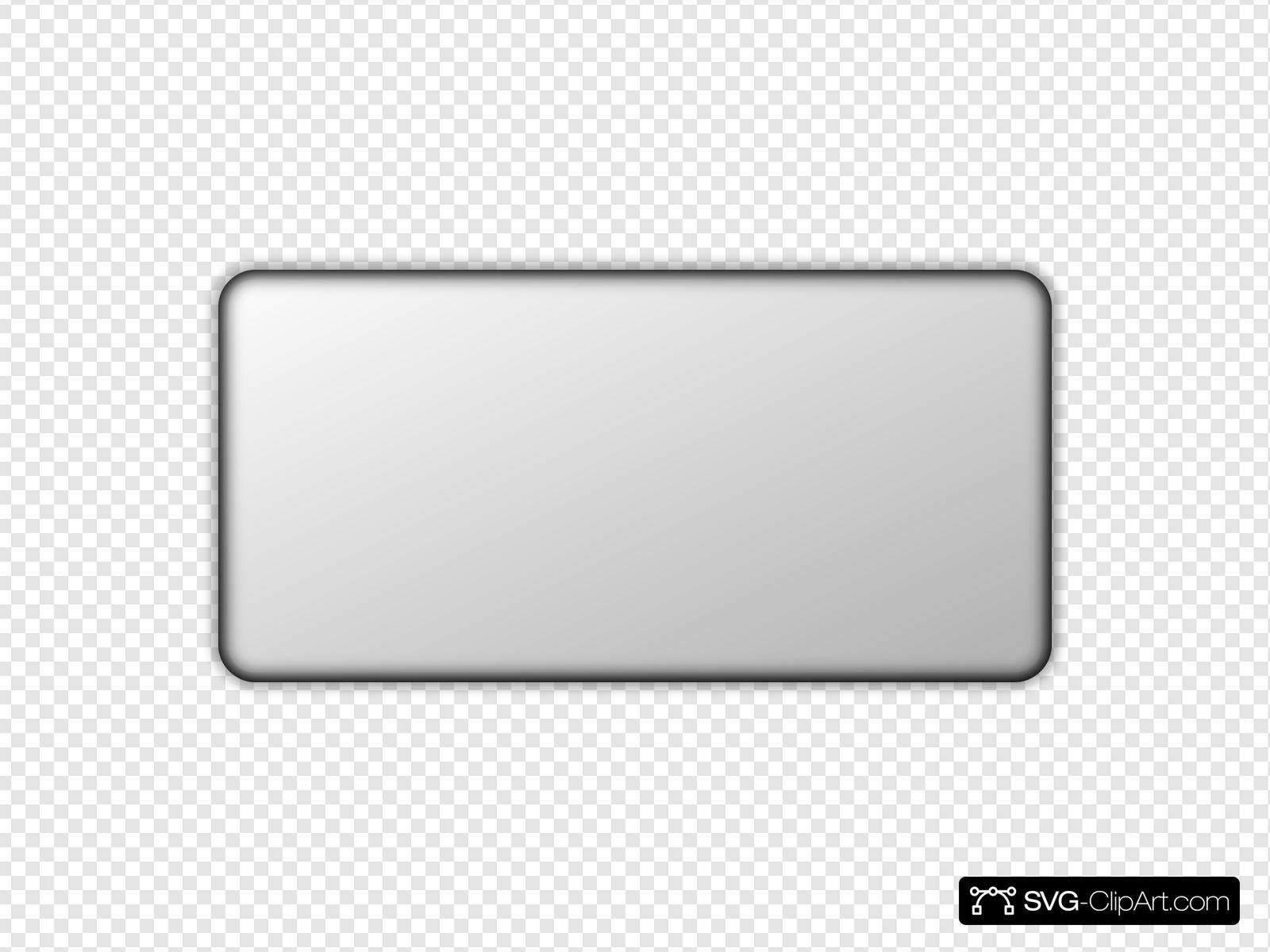 Gray button clipart clip art black and white Light Gray Button Rectangle Clip art, Icon and SVG - SVG Clipart clip art black and white