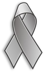 Gray cancer ribbon clipart banner royalty free library Grey Cancer Ribbon Clip Art at Clker.com - vector clip art online ... banner royalty free library