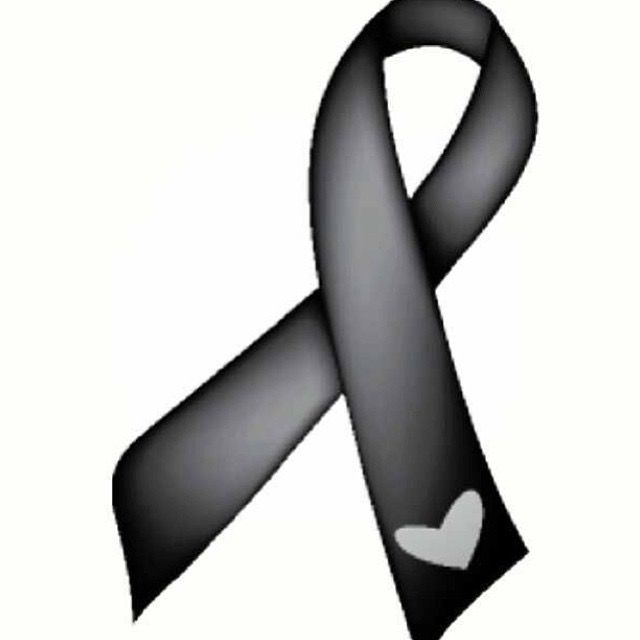 Gray cancer ribbon clipart jpg free download Pin by Chrissy Crazy_Bag_ Lady on Believe in a CURE! | Melanoma ... jpg free download