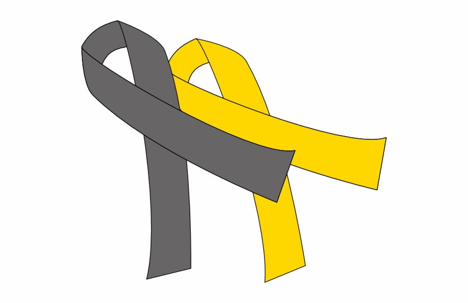 Gray cancer ribbon clipart png library Grey And Gold Cancer Ribbon Free PNG Images & Clipart Download ... png library