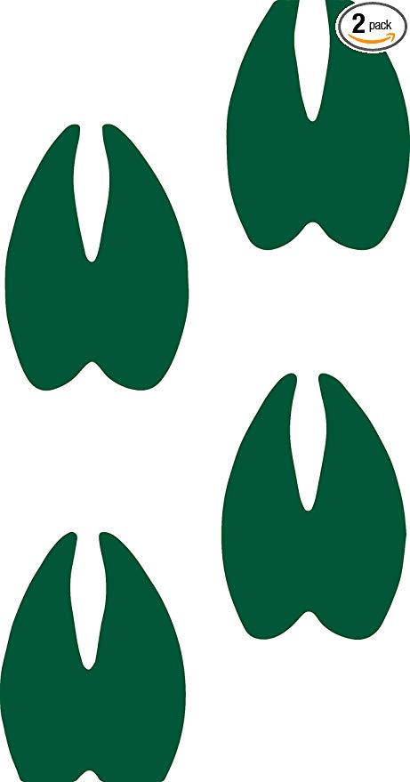 Gray deer hoof print clipart picture transparent stock Amazon.com: Animal Deer HOOF Prints WILDLFIE (Green) (Set of 2 ... picture transparent stock