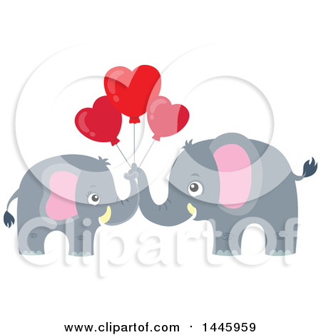 Gray elephant with hearts clipart clip art free library Royalty Free Elephant Illustrations by visekart Page 1 clip art free library