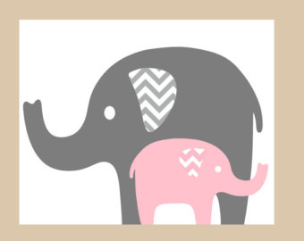 Gray elephant with hearts clipart clipart black and white Pink elephant with hearts clipart - ClipartFest clipart black and white