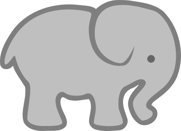 Gray elephant with hearts clipart png free library 17 Best ideas about Elephant Outline on Pinterest | Quilling ideas ... png free library
