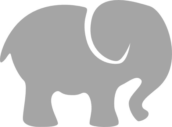Gray elephant with hearts clipart picture stock elephant silhouette clip art | Gray Elephant clip art - vector ... picture stock