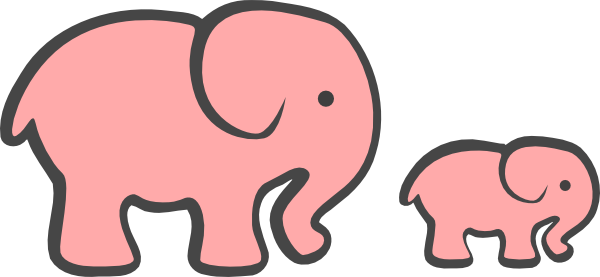 Gray elephant with hearts clipart png royalty free stock Gray elephant with pink heart clipart - ClipartFest png royalty free stock