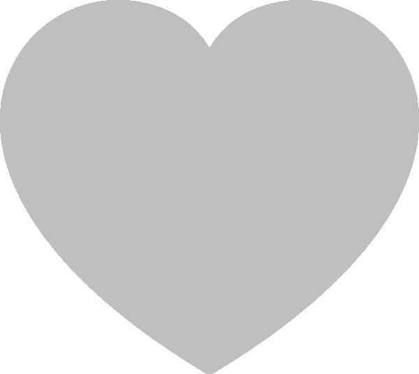 Gray heart clipart svg download Solid Gray Heart Clip Art at Clker.com - vector clip art online ... svg download