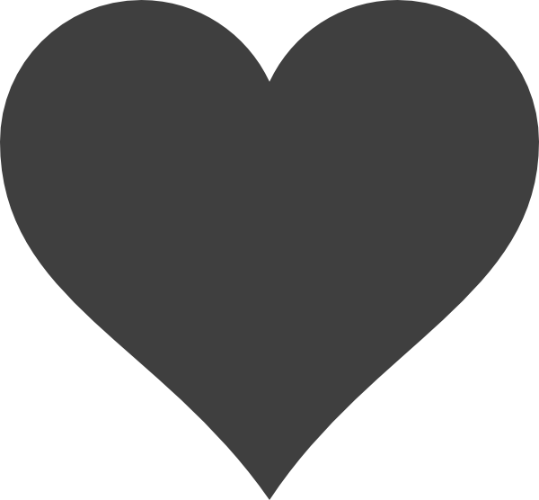 Gray heart clipart jpg freeuse stock Grey Heart Clip Art at Clker.com - vector clip art online, royalty ... jpg freeuse stock