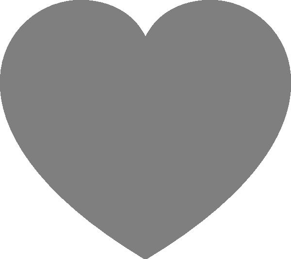 Gray heart clipart clipart free download Gray Heart Clip Art at Clker.com - vector clip art online, royalty ... clipart free download