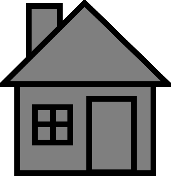 Gray house clipart clip free library Grayhouse Clip Art at Clker.com - vector clip art online, royalty ... clip free library