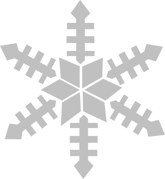 Silvere snowflake clipart graphic free stock Snowfalke Clip Art at Clker.com - vector clip art online, royalty ... graphic free stock