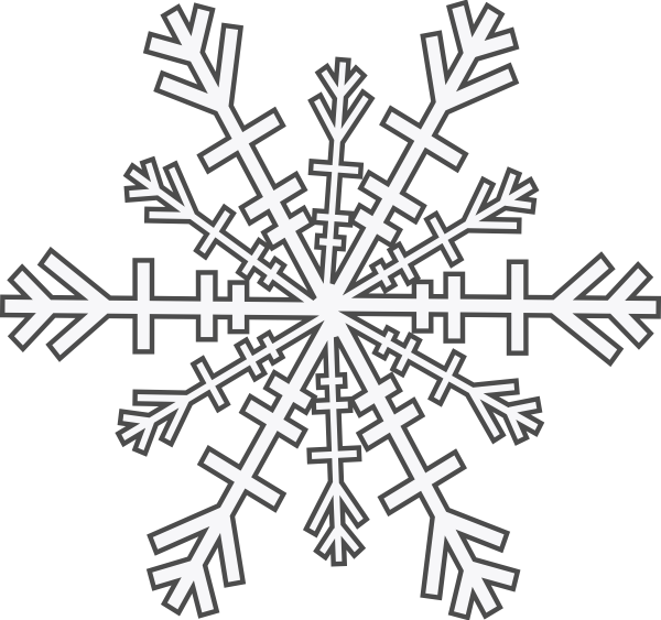 Snowflake wind clipart png black and white download Snowflake Clip Art at Clker.com - vector clip art online, royalty ... png black and white download