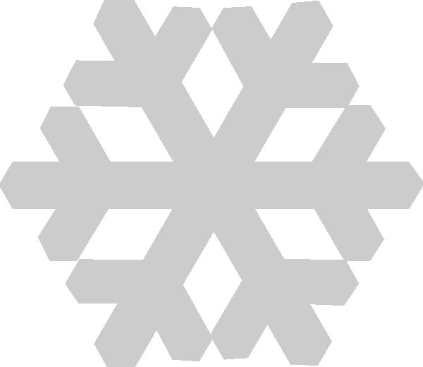 Gray snowflake clipart png