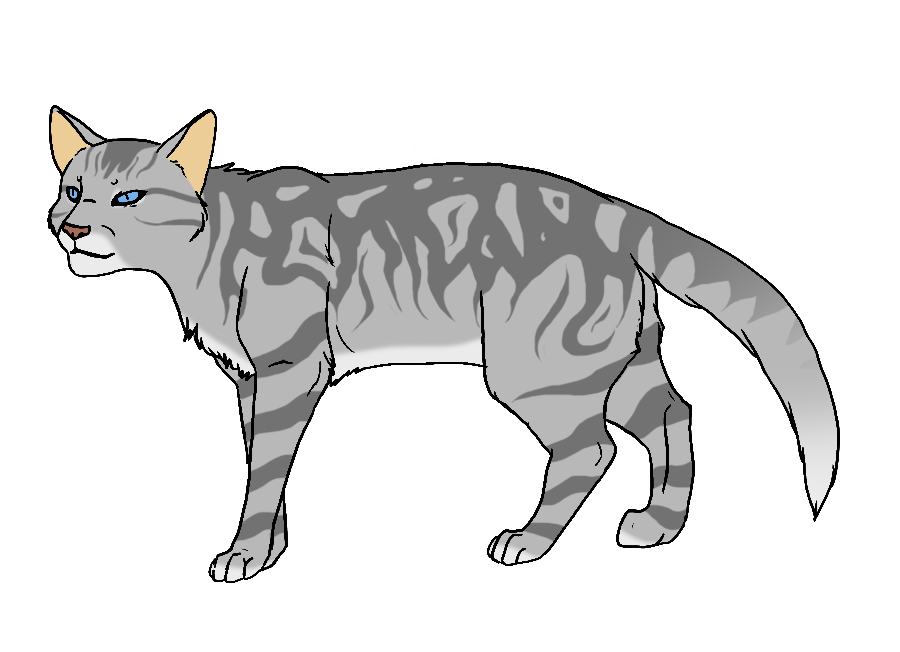 Grey cat clipart vector black and white library ShadowClan by Twistedfoot on DeviantArt vector black and white library