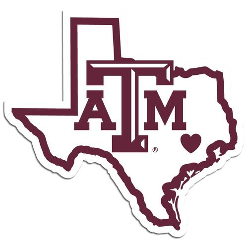Gray texas a&m aggies clipart transparent Texas A&M Aggies Decal Home State Pride Style Special Order | Cricut ... transparent
