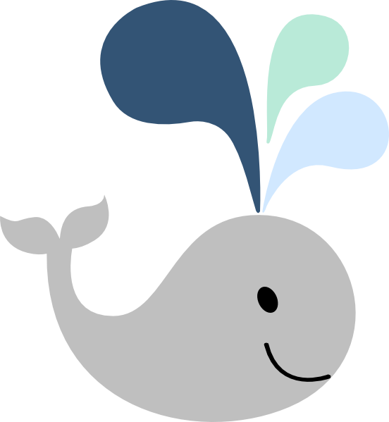 Gray whale clipart svg stock Little Gray Whale Clip Art at Clker.com - vector clip art online ... svg stock