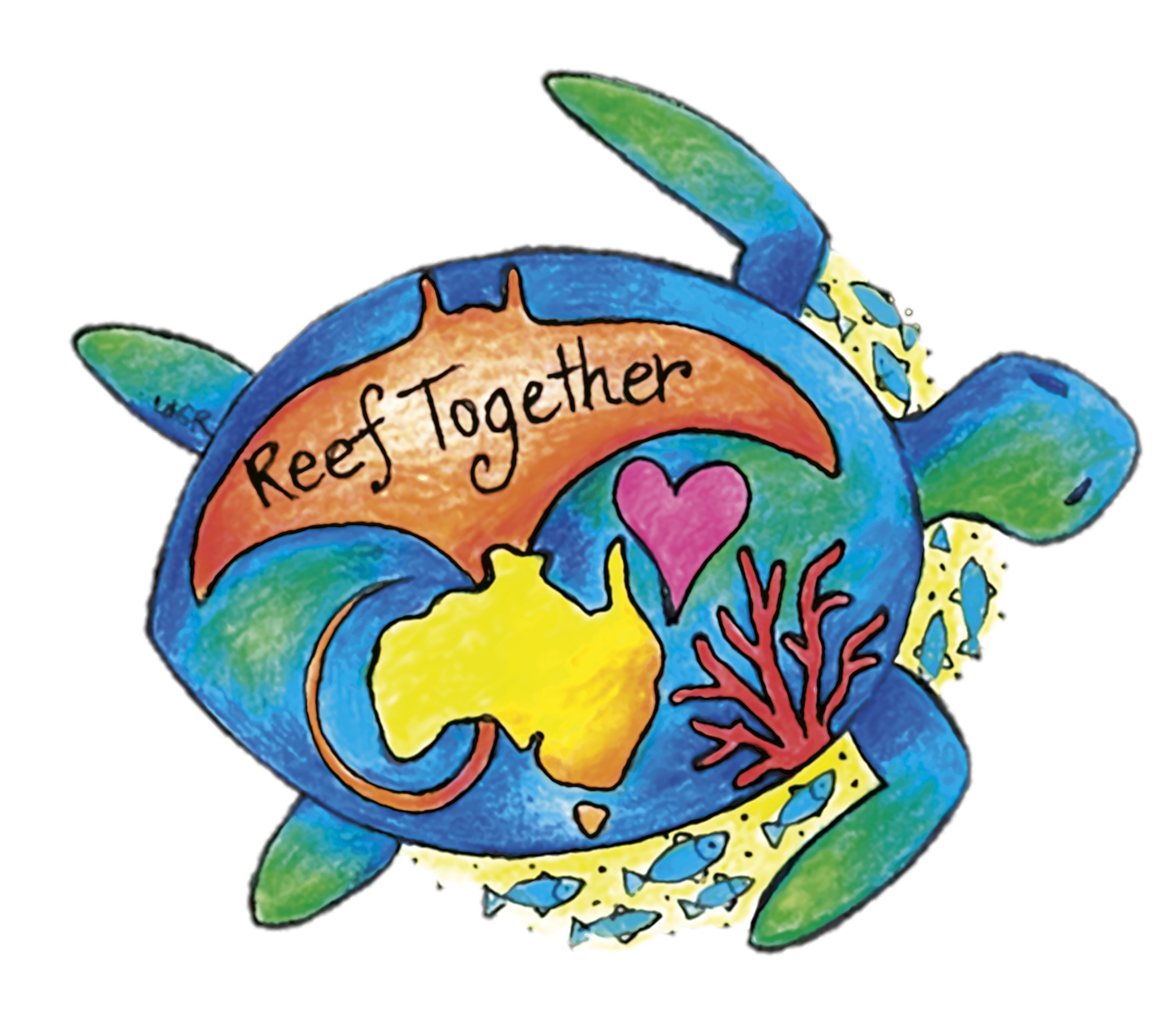 Great barrier reef clipart graphic black and white Reef Together - Great Barrier Reef Guardian Schools Convention ... graphic black and white