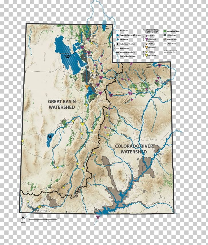 Utah Great Basin Drainage Basin Hydrological Code Watersheds Of ... image